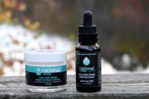 Rational hemp bottle and cream